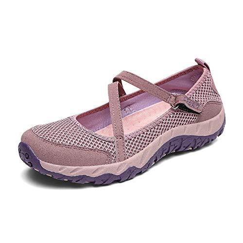 Gtagain Zapatos para Mujer Plano Sneaker - Sandalias Deportivas Ligero Bailarinas Confort Caminando...