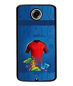 Fuson Designer Back Case Cover for Motorola Nexus 6 :: Motorola Nexus X :: Motorola Moto X Pro :: Google Nexus 6 (Victory Celebrations Cool Blue Background )