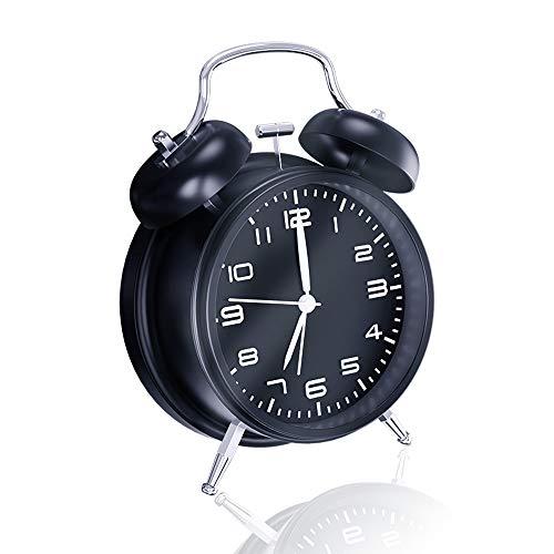 Chaobai Doble Campanas Reloj Despertador Luz NocturnaVintage