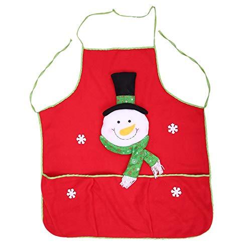 Bianchi Grade Brushed Cloth Apron Cute Cartoon Home Dress Christmas Apron -