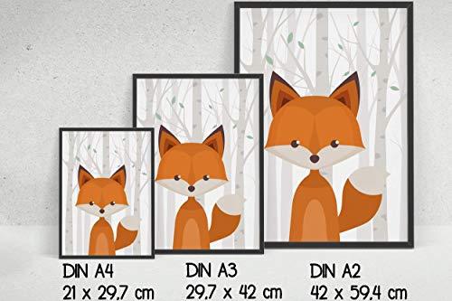 2er Set Waldtiere – Motive und Hintergrund wählbar- ohne Rahmen - 8