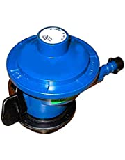 Handu Aluminium LPG Gas Regulator Suitable for Bharat/Indian/HP Gas Cylinders (Blue)