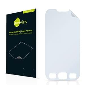 Savvies SC50 film de protection écran adapté pour Samsung Wave 533