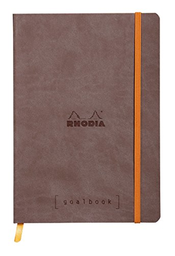 Clairefontaine Rhodiarama goalbook Notizbuch 240Seiten Nummeriert Elfenbeinfarben Dot zu Punkte A590g Schokolade