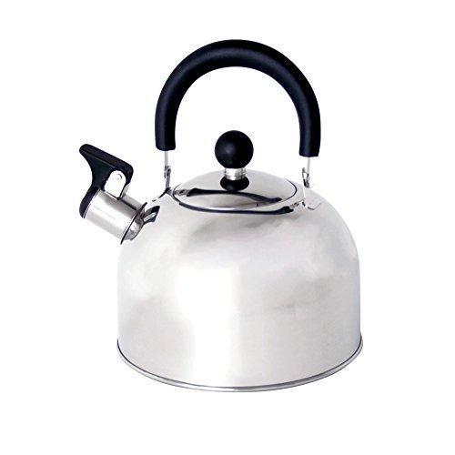 Edelstahl Flötenkessel Teekessel 2 Liter Induktion geeignet von Hoffmanns Marken Wasserkessel mit Pfeife