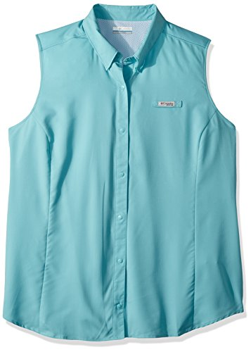 Tamiami Angeln Shirt (Columbia Damen TAMIAMI Plus Sleeveless Shirt, damen, Iceberg)