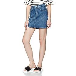 FIND Women's Denim Mini Skirt