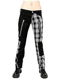Black Pistol - Freak Pants Tartan Black-White