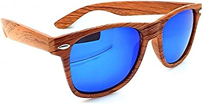 Unisex gafas de sol KISS ® madera madera efecto espejo caminante línea-hombre de mujer fuego VINTAGE