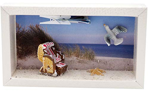 ZauberDeko Geldgeschenk Verpackung Nordsee Ostsee Strandkorb Geldverpackung Urlaub Reise Gutschein