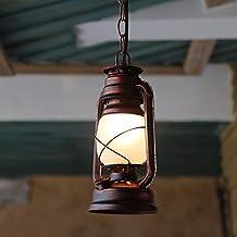 Retro clásico nórdico queroseno linterna lámpara colgante lámpara de parafina E27 Nostalgia LÁMPARA DE QUEROSÉN PARA Inicio Restaurante Deco Lamparas,140x800mm