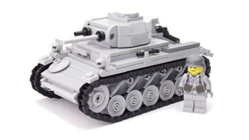 WW2 Custom Panzer II Ausf. F Bausatz BrickArms, hochwertig bedruckte Figuren, aus LEGO® Steinen