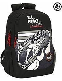 Safta El Niño Tarifa Mochila escolar, 44 cm, Gris / Negro