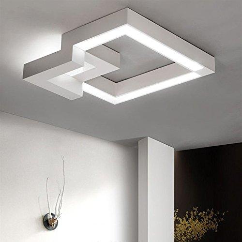 ... Stufenlos Dimmbar Warmweiß/neutralweiß/kaltweiß Deckenlampe  Geometrisches Design Flur Badlampe Deckenbeleuchtung Wohnzimmer Lampe  (24W 40CM Weiß)