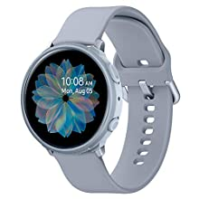 Spigen Liquid Air Armor Compatible with Samsung Galaxy Watch Active 2 Case 44mm (2019) - Cloud Silver