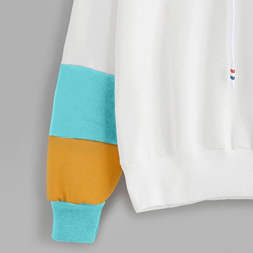 Ba Zha Blouse Sweat-Shirt - Manches Longues - Femme bleu ciel