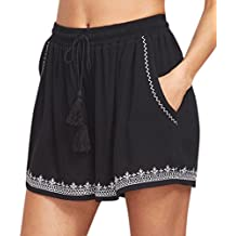 Pantalones Cortos Mujer Verano 2018, ❤️Amlaiworld Pantalones Cortos Mujer Verano Deporte Pantalón de impresión