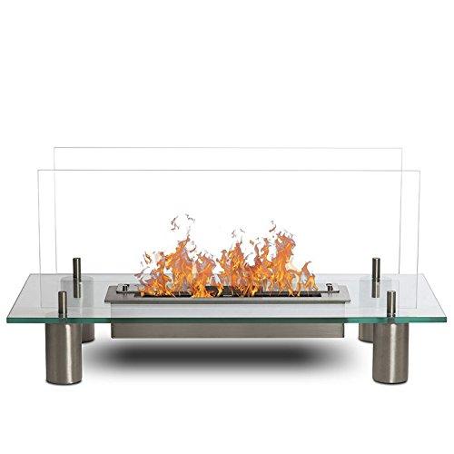 Glass–Glas, Kamin Ethanol (Bratpfanne Bio, hat den Boden, Mobile, Nomade, Tisch-, Mini Bratpfanne Bio)