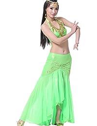 YiJee Vientre Señoras de las Mujeres de la India Traje de la Danza Top Falda
