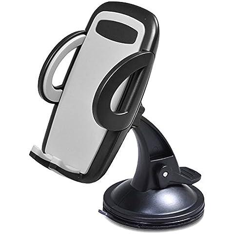 Supporto da auto, toobur cruscotto auto/Auto/Supporto universale–Supporto per Parabrezza regolabile supporto con forte Sticky Gel Pad per iPhone 6s/6s Plus/6/6Plus/5S/5C/SE, Galaxy Note 4/3, Galaxy S5/S6/S6Edge/S7/S8Edge e altri smart phone Android