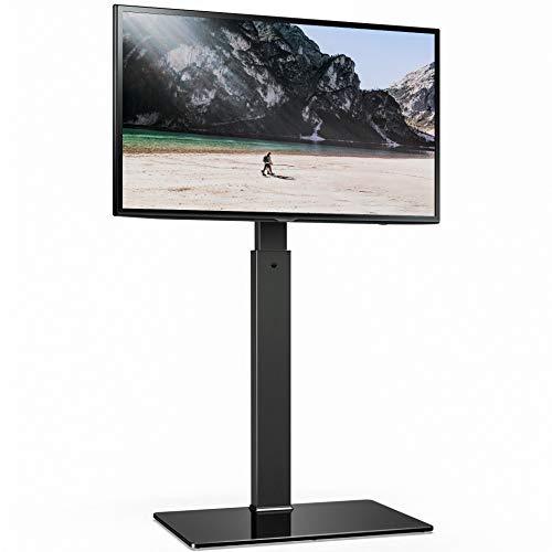 FITUEYES TV Bodenständer TV Standfuß TV Ständer Fernsehstand für 32 bis 65 Zoll LED LCD TV Höhenverstellbar schwenkbar TT107501MB