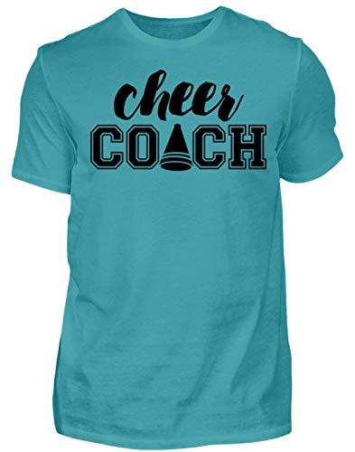 Cheer Coach - Cheerleading - Cheerleader - Football - Pom Poms - Geschenk - Gift Idea - Herren Shirt -M-Poolblau