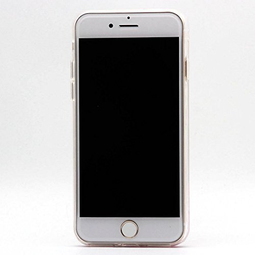 Cover Liquido per Apple iPhone 7 / 8 Plus , Keyihan Ragazza Donna Custodia Rosa Style Divertenti Brillantini Glitter Bling Liquid Flowing Case in Plastica Rigida e Silicone Morbido (Palloncino) Diamante