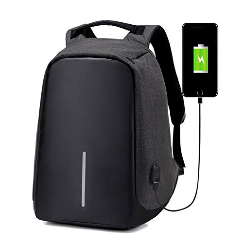 Lucerne-Waterproof-Anti-Theft-Backpack-Business-Laptop-Bag-with-USB-Charging-Port-Black