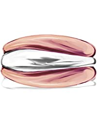 Dinny Hall Wave Stacking Silver and Rose Gold Plated Ring Set
