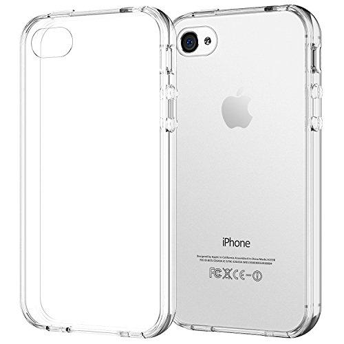 JETech Hülle für Apple iPhone 4, stoßfest und Anti-kratzt Transparente Schutzhülle für iPhone 4s, HD Klar Klar Bumper Iphone 4s Hülle