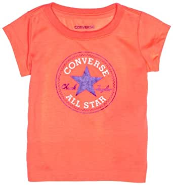 Converse 11538106 Baby Girl's T-Shirt Fiery Coral 12 Months