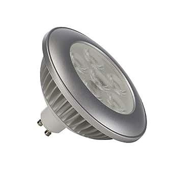 SLV 550352GU4ES1119.6W 36° VOM067041Patère en aluminium LED Lampe hv-reflector, gris/transparent