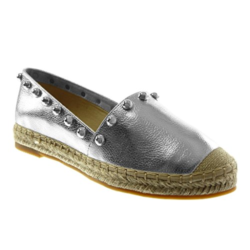 Angkorly Damen Schuhe Espadrilles SlipOn Nieten Besetzt Perle Seil ...