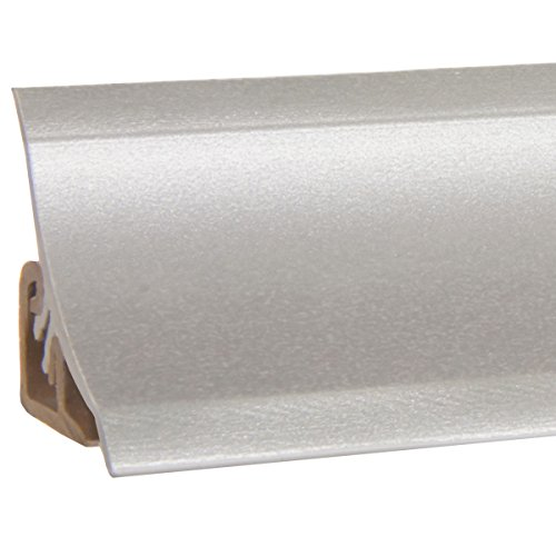 HOLZBRINK Küchenabschlussleiste Alu Silber Küchenleiste PVC Wandabschlussleiste Arbeitsplatten...