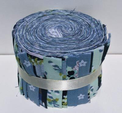 Fabric Freedom Jelly Roll FFJR12 Nussknacker, Blau, Weihnachten, 20 Streifen, je 6 cm x 110 cm, 20 Stück (Quilten Stoff Jelly Rolls)