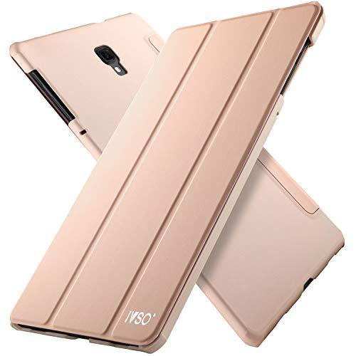 IVSO Hülle für Samsung Galaxy Tab A 10.5 SM-T590/T595, Slim Schutzhülle mit Auto Aufwachen/Schlaf Funktion Perfekt Geeignet für Samsung Galaxy Tab A SM-T590/SM-T595 10.5 Zoll 2018, HJ-Rosa