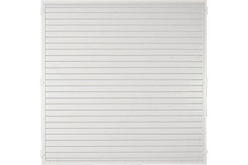 Sichtschutzzaun Kunststoff weiß 180 x 180 cm (Serie Juist)