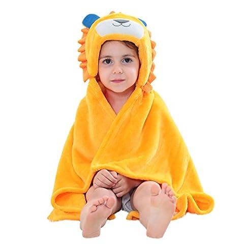 MICHLEY Baby Bademantel Tier Kapuzen Handtuch Soft Fleece Baden Wrap Decke für Jungen und (Leicht Unter Dem Meer Kostüme)