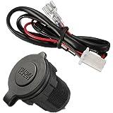 Etanche prise allume-cigarette adaptateur chargeur 12V/24V accessoire d'alimentation Auto Moto avez cable
