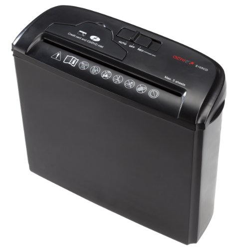 Aktenvernichter Hause Zu Für (Genie S-105 CD Aktenvernichter (bis zu 5 Blatt, Streifenschnitt, mit CD - Shredder, Inkl. Papierkorb) schwarz)
