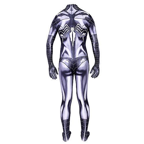 SPIDER NI Erwachsene/Kinder Weibliches schwarze Katze Spiderman Kostüm, Movie Game Anime-Charakter Siamese Strumpfhosen-Partei-Kostüm (Color : Kid, Size : (Weibliche Superhelden Mit Schwarzen Kostüm)