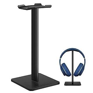 Headphone Stand Gaming Headset Stands New Bee Solid Aluminum+TPU+ABS Headphone Headset Hanger Holder Mount Headphone Display for Most Headphones Bose,Beats,B&O,Sennheiser,Sony,AKG etc.(Black)