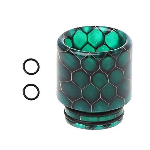 JERKKY Drip Tip Snakeskin Resina epossidica 810 Bocchino per TFV12 Atomizzatore RDA RTA Serbatoio E Sigarette Vape Accessori Verde