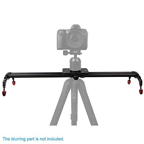 Andoer 80cm Videoschiene Dolly Kamera Video Rail Slider Stabilisator Lagersystem für Canon Nikon Sony DSLR Kamera Camcorder Video DV