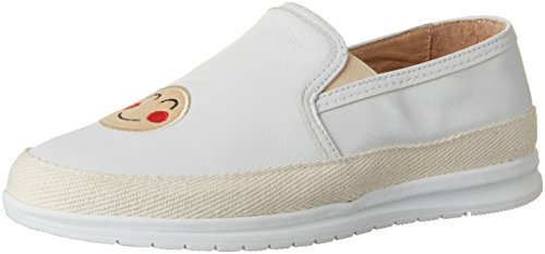 nobrand Damen Bubble Slipper Weiß (white emojis)