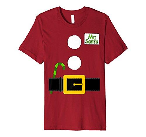 Herr Santa Claus T-Shirt Passende Weihnachten Kostüm Paar (Claus Kostüm Kinder Für Mrs)