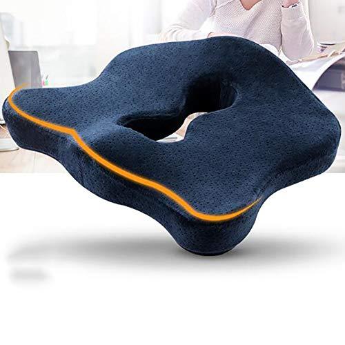 Doifck Soft Car Sitzkissen Pad, rutschfeste Auto-Kissen Für Home Office Reise Universal Auto, Memory Foam, Vier Jahreszeiten 45 * 36 * 8 cm (17,7 * 14 * 3 Zoll) -