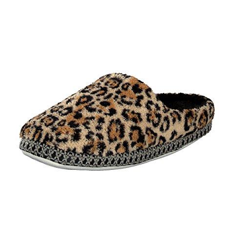 Brandsseller Luxuriöse Hausschuhe im Zebra- oder Leopardendesign für Damen - Motiv: Leopard - Größe: 37/38
