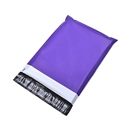 KKBESTPACK 10x13 Poly Mailers Self Sealing Shipping Envelopes CP3T3 Waterproof Postal Bags (Purple,10x13 Pack of 1000) (10x12 Poly Mailer)