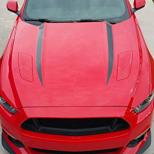 Kongqiabona Striped Auto Aufkleber Serie D-705 Ford Mustang Hood Streifen Motorabdeckung Striped Sport Draw Sticker Schwarz -